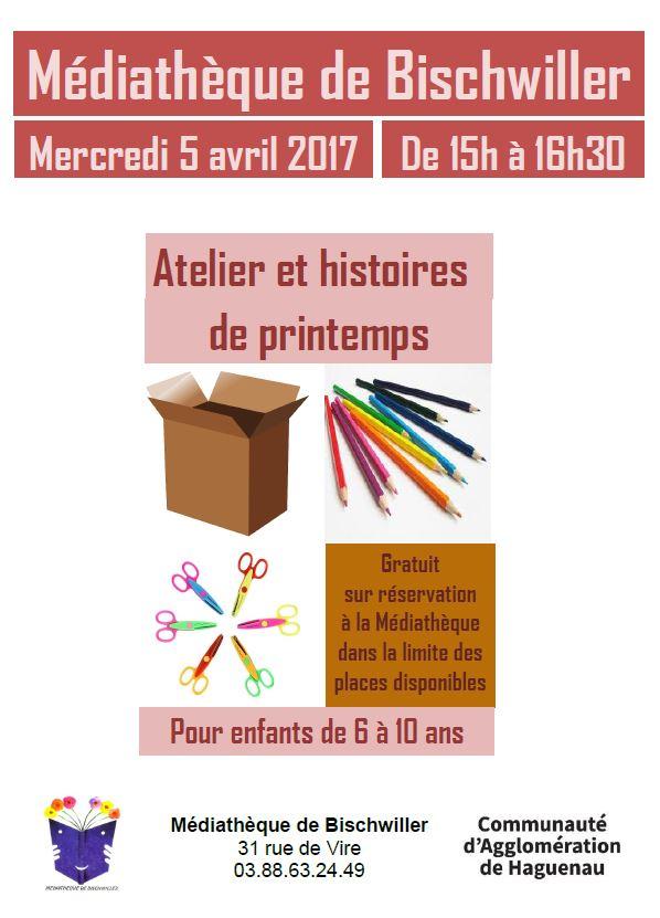 Affiche Atelier Printemps