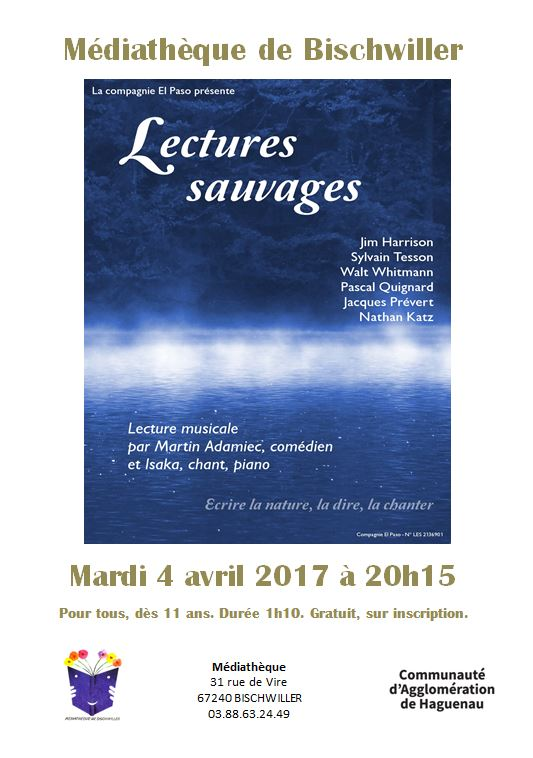 Affiche Lectures sauvages